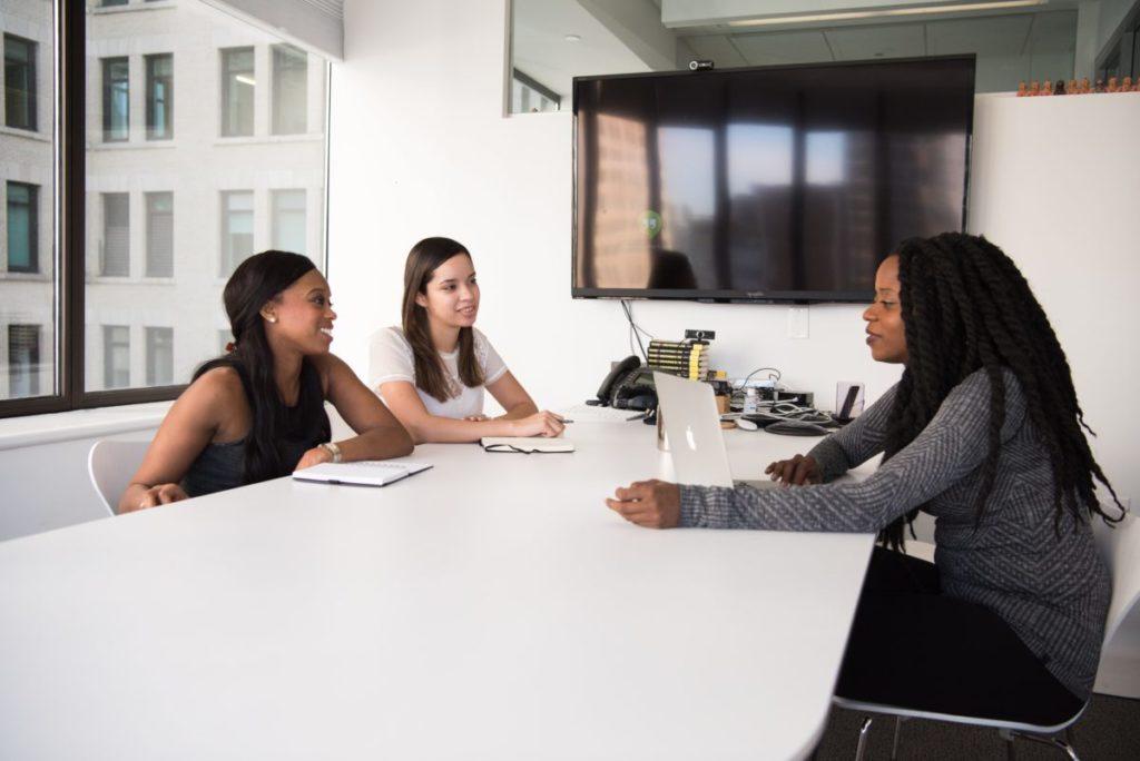 team of business women